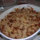 Tommy's Ham Casserole - A great leftover ham recipe that my husband takes all the credit for. It contains leftover ham, pasta, cheese and bread crumbs in a creamy soup base.