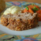 Rempel Family Meatloaf - Meatloaf with cheese, onion soup mix, steak sauce and crushed buttery round crackers.