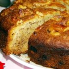 Banana Cake V - Very moist cake; great as a snack! Use bananas that are starting to turn black.