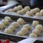 Coconut Candies - Chewy coconut candies are made with just milk, sugar, coconut and vanilla.