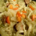 Polish Noodles - This recipe combines sage sausage, cabbage, and egg noodles in a dish that's simple and delish.