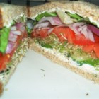 Cucumber Sandwich - I worked at a sandwich shop that made these vegetable sandwiches stuffed with cucumbers, sprouts, tomatoes, and avocadoes. They were a veggie's dream!