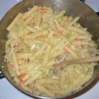 Cabbage and Pasta - Sauteed cabbage tossed with pasta makes an ideal side dish for your favorite meat!