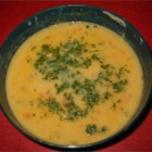 Cheese Soup III - Vegetarian and low in fat, this soup is made with fat free American cheese, skim milk and vegetables in a broth seasoned with hot pepper sauce.