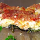 Chiles Rellenos Pie - This easy delicious dish is perfect in the winter, and light enough for summer. Anyone who loves stuffed chiles rellenos will LOVE this more simple recipe, with just as much great flavor.