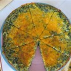 Spinach and Potato Frittata - A tasty frittata made with potatoes, spinach, garlic, green onions, and cheese. Delicious!