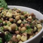 Poor Man's Caviar - A mix of black beans, black-eyed peas, and garbanzo beans, corn, onion, garlic, parsley, and basil tossed with a red wine and olive oil vinaigrette dressing makes a fabulous dip or side dish. Kidney beans and navy beans can also be used.