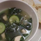 Garlic Spinach Soup - If you are a fan of ginger and garlic, then this chicken and glass noodle soup is for you!