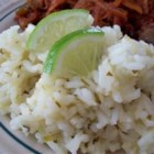 Becky's Easy Cilantro Lime Rice - The rice in this recipe is flavored with lime juice, cilantro, and canned green chiles.