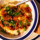 Restaurant-Quality Baked Potato Soup - Shredded cheddar, crumbled bacon and chopped green onions garnish this thick, rich soup with half-and-half, chopped baked potato and onion.