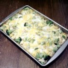 Silver's Savory Chicken and Broccoli Casserole - Noodles are topped with chicken and broccoli, then baked in a casserole with a white sauce and 2 kinds of cheese. This is an easy to make recipe that is great for potlucks, church gatherings, holidays, or outside gatherings.
