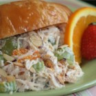 Gourmet Chicken Salad - Grapes and mandarin oranges lend fruity sweetness to chicken salad dressed with a smooth cucumber salad dressing.