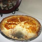 Rich Cheese Pie  - A rich savory custard pie made with cheddar cheese, similar to quiche.