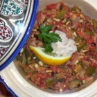 Titaina - Tomatoes and peppers are simmered with tomatoes and tuna. I had this at a tapas bar in Spain way back and was able to figure out how to mimic it.  It's an easy way to clean out the fridge and pantry.  And, perfect for a low carb diet.  I was introduced to this as a tapa.  But you could always pair it with a salad or other veggie side dish for dinner.