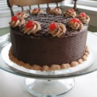 Black Forest Cake II - Wonderful chocolate layer cake which is soaked in Kirsch liqueur, with cherry filling.
