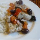 Chicken with Tomatoes and Olives - This is a dish adopted from the Liguria region of Italy combining chicken with tomatoes and black olives. Serve with herbed potatoes and crusty bread.