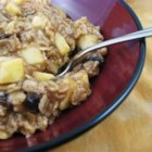 Creamy Apple Cinnamon Raisin Oatmeal - This creamy oatmeal is perfect for those cozy winter mornings with a good cup of coffee.  Or serve it to your kids with some hot chocolate.  Not too sweet, not too bland, and it has fresh fruit!