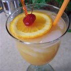 Hurricane I - A large cocktail that contains amaretto, light and dark rum, orange juice and pineapple juice.