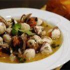 Clams Italiano - These clams are steamed in wine, butter, and spices. When the clams are gone, dip Italian bread in the broth.