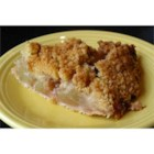 Apple Crunch Pie with Vanilla Sauce - Not your typical apple pie - Hershey's Cinnamon Chips are scattered throughout, and in the streusel, giving the apples the cinnamon flavor they deserve.