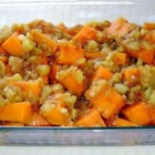 Pineapple Sweet Potatoes - Cubes of sweet potatoes and pineapple tidbits are baked with brown sugar, cinnamon, nutmeg and cloves in this Thanksgiving side dish.