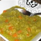 Split Pea Soup without Pork - Just dried peas, celery, carrots, chicken broth and water in this easy, slowly cooked, stovetop soup.
