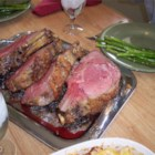 "Garlic Prime Rib - A garlic, thyme, and olive oil marinade covers your prime rib roast for 5-star results. This ""secret"" recipe is a secret no more!"