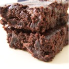 Vegan Brownies - MMMMM...Vegan Brownies!!!!  These are very gooey, which is a good thing in my book. However, if you want your brownies a little more solid you'll need to cook them longer than the recommended time. Great for people with egg or dairy allergies too!