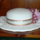 Bridal Shower Cake - A good white cake recipe, made with butter, cake flour, egg whites, and vanilla.