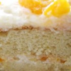 Mandarin Orange Cake I - Start with yellow cake mix and Mandarin oranges to make this cake with a frosting made with pineapple, pudding mixture, and whipped topping.