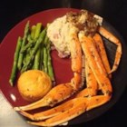 Crab Legs with Garlic Butter Sauce - I ended up getting some snow crab legs on sale at the market. I wanted something a little different from plain steamed, boiled, or grilled crab legs, so I ended up throwing a few things together to make this awesome crab leg dish. Enjoy! This would be great with shrimp as well.