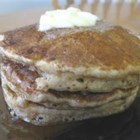 Whole Grain Pancakes - A combination of whole wheat flour, oats, cornmeal, and flaxseed flour give these pancakes lots of flavor.