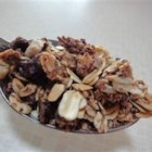 Sugar Free Granola - This granola recipe is tried and tested, I bring with me all my camping trips.  It also makes a very filling and delicious breakfast.  The only main ingredient in this recipe is the oatmeal, all the other ingredients can be substituted.  This recipe is made without adding any honey or sugar, although if you don't have any dates at of home you can always add 1/2 cup honey to the other ingredients.