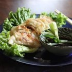 Gyoza - These Japanese pot stickers are a fun favorite! Little fried wrappers are filled with pork and veggies, and dipped into a tasty sauce.