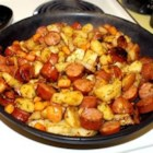 Kielbasa Hash With Carrots and Caraway - A hearty sausage hash, filled with flavor - a great way to start the day!