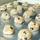 Chocolate Chip Kiss Cookies - Chocolate chip cookies wrapped around chocolate kiss candy.