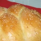 Bread Machine Challah for Shabbat and Festivals - A traditional challah, but the dough is made and  kneaded in a bread machine. Just put the ingredients in, turn on the machine, and walk away until it's time to braid, glaze, and bake the challah in your oven.