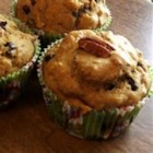 Dietetic Banana Nut Muffins - These muffins have no sugar and no fat, but are moist and tasty.  Instead of regular applesauce, I sometimes use mango-peach to give the muffins more flavor.  Great recipe for diabetics! You can use all white flour instead the whole wheat flour, too.