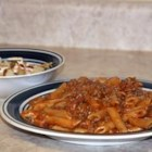 Bacon Cheeseburger Mostaccioli rigati