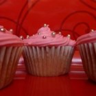 Strawberry Cupcakes - The strawberry cupcakes in this recipe are made with real fresh strawberry bits!