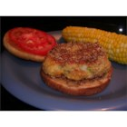 Butter Bean Burgers - Butter beans mashed and combined with onion, jalapeno pepper, cracker crumbs, egg, and cheese, then shaped and fried into vegetarian burgers. You can substitute bell pepper for the jalapenos for a milder taste.