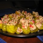 Stuffed Pepperoncini - If you bring this dish to a party, make sure you bring the recipe with you, because everyone will want it after eating these.