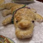 Alligator Animal Italian Bread - The dough for this simple Italian bread is mixed in a bread machine before being shaped by hand. It lends itself well to handling and can be shaped into the animal of your choice.