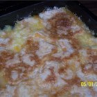 Peach Cobbler Dump Cake I - Yellow cake mix and peaches canned in heavy syrup are the primary components in this simple dump cake recipe.
