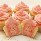 Sweetheart Cupcakes - Use food coloring to make festive layered cupcakes for Valentine's Day or any occasion.