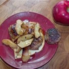 Sausage Sandwich with Sauteed Apple Slices - Many people don't know how delicious sauteed apples can be. This recipes pairs them with sausages for a sweet and savory treat.