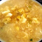 Egg Drop Soup II - This is soup is a classic beginning to any Asian-style meal.  A clear chicken broth is given some texture when lightly beaten eggs are stirred in. A sprinkling of scallions adds a sweet onion-y note.