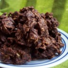 Easy Chocolate Drops - A superior chocolate no-bake cookie. These are so easy to make, you could do it with your eyes closed.