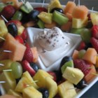 Coffee Flavored Fruit Dip - This is a creamy, luscious, coffee-flavored dip for fruit -- strawberries, tart apples, pineapple, grapes, etc. It's perfect for bridal or baby showers, and it's quick and easy to make.