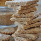 Wheat Crackers - This thin wheat cracker is simple and thrifty to make. It will taste great with any dip or spread, and they will have much more character than factory made crackers.